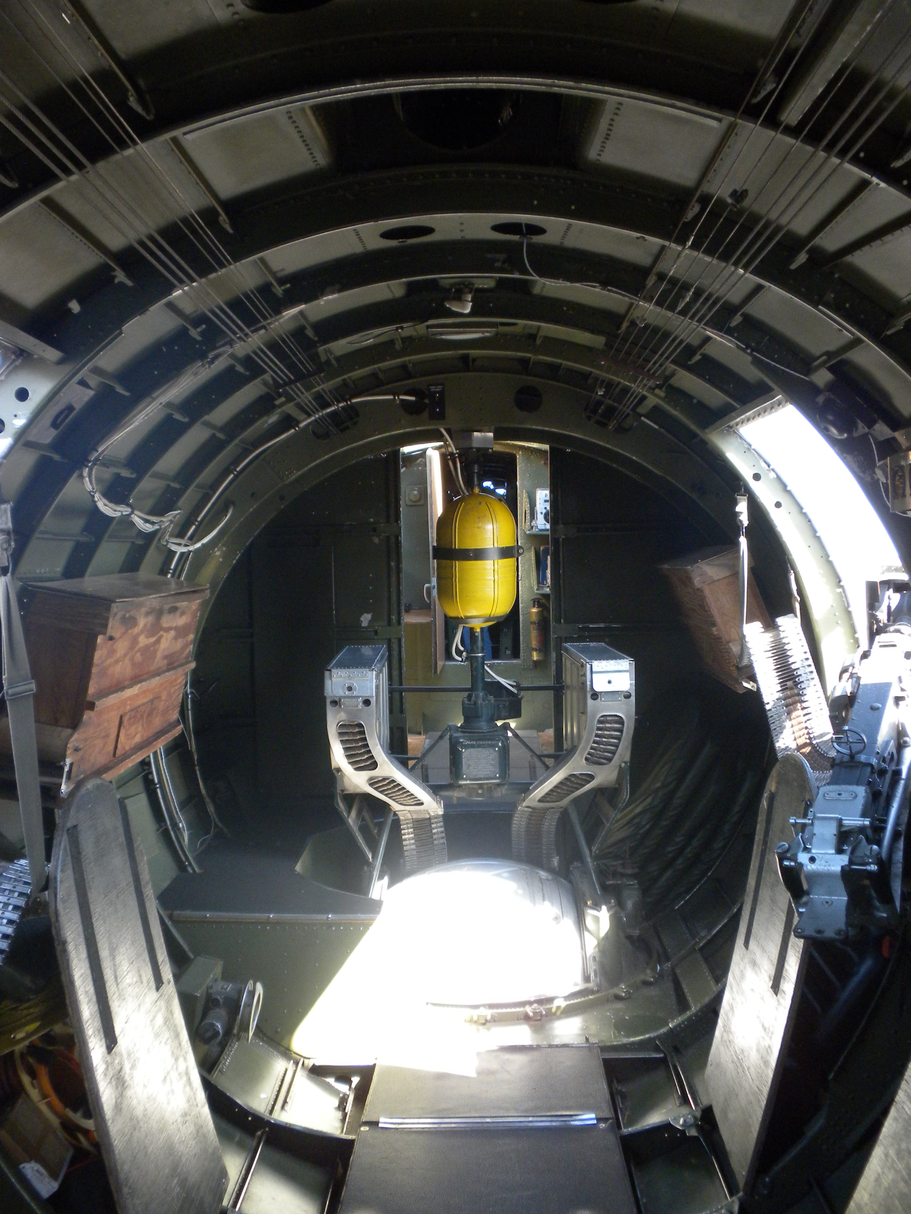 World War II Beauties » B 17 Interior Fuselage From Rear To Front
